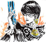 Inktober #29 - Bayonetta by Horoko