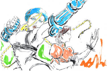 Cammy And Chun-Li by Horoko