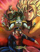 Dio v Jotaro: Dawn of the World by Horoko