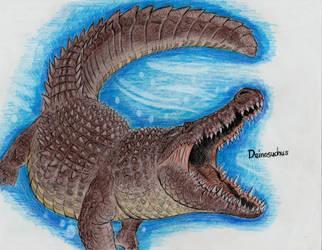 Deinosuchus by MonsterKingOfKarmen