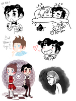 Klaine - Spam Doodles 2 by Sunshunes