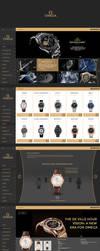 Omega watches - Web Design by KamilBachanek