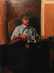 Portrait of my Dad by jamescox1996
