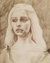 Portrait of Daenerys (Emilia Clarke) by jamescox1996