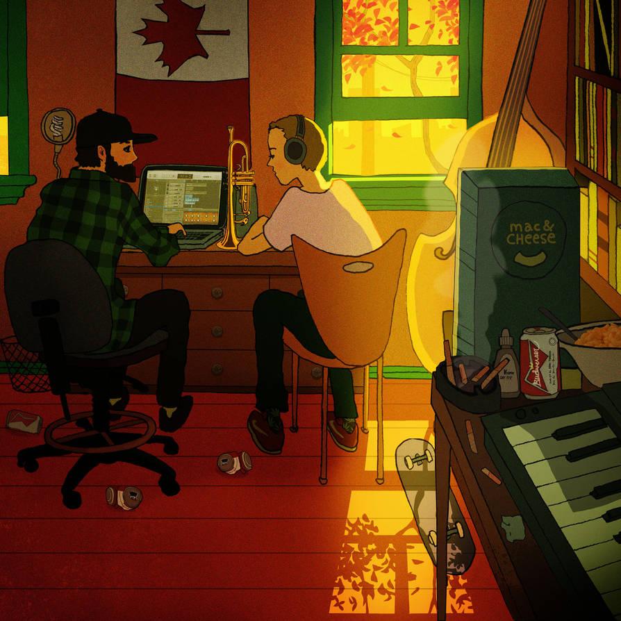Making Beats (Illustration) by jamescox1996