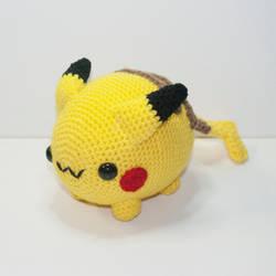 Chubby Pikachu by Heartstringcrochet