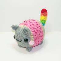 Chubby Nyan Cat by Heartstringcrochet