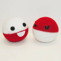 Voltorb and Electrode by Heartstringcrochet