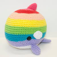 Rainbow Orca by Heartstringcrochet