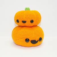 Stacked Pumpkins by Heartstringcrochet