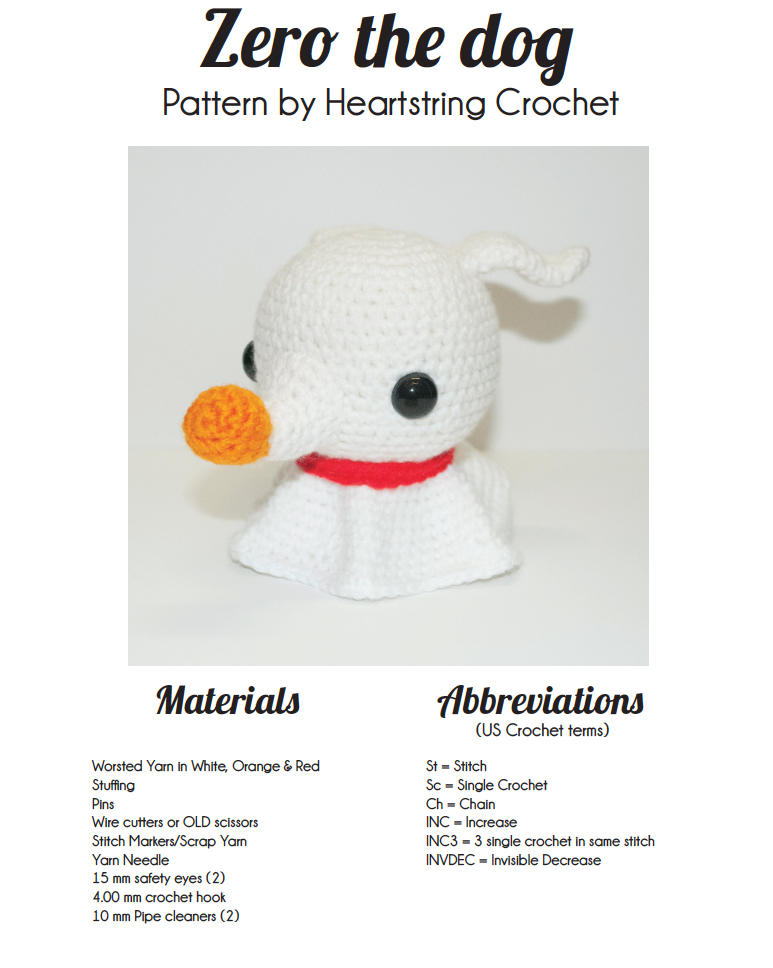 Zero Pattern By Heartstring Crochet By Heartstringcrochet On Deviantart