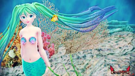 [MMD] Mermaid Miku by DevilMMD