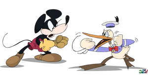 The Mouse and Duck are about to kill each other by superzachbros123