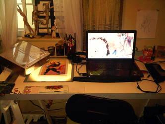 Desk by LovelyDagger
