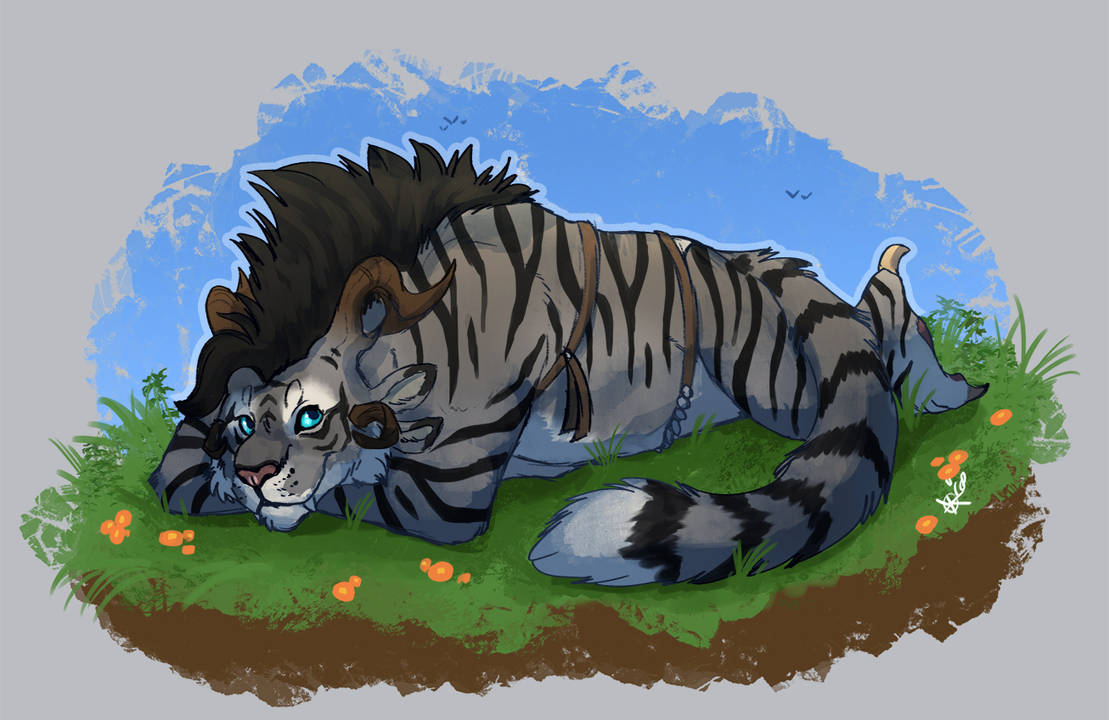 Aza chilling by DRGNFL