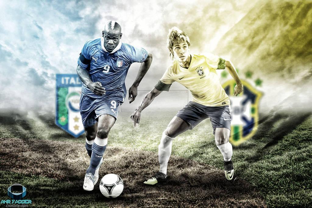 Italia Vs Brazil by AmrYasserDesigner
