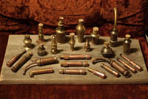 Steampunk Alchemist's vials by Sebbal