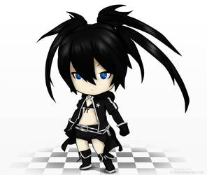 Black Rock Shooter Chibi by RidKurn