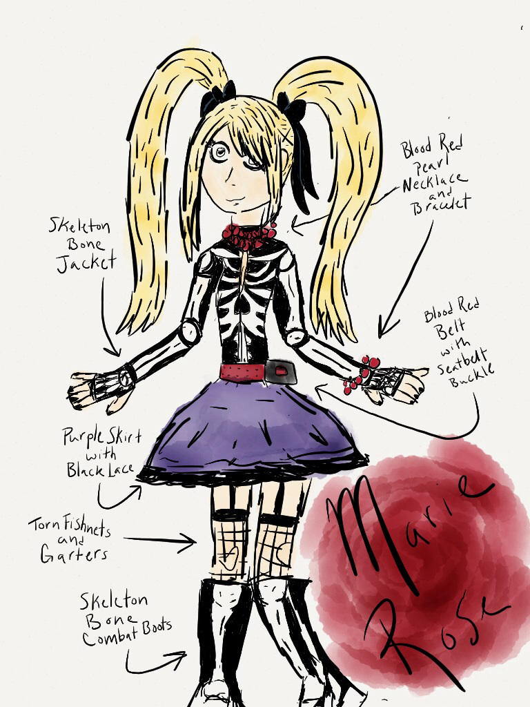 Concept Art Coloreddetailed Skeleton Marie Rose By Joeisanartist