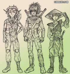 Warrior Collision Group 1 by sinDRAWS