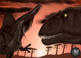 Spinosaurus VS Carcharodontosaurus by Vitor-Silva