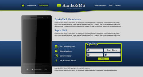 SMS Service Web Design by MertNerukuc