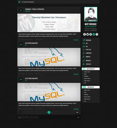 Personal Blog Web Design by MertNerukuc