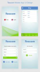 Tescom Mobile App UI Design by MertNerukuc