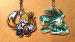 Keychains for sale - Tails, Silver by JemiDove