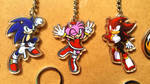 Keychains for sale - Sonic, Amy Rose, Shadow by JemiDove