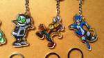 Keychains for sale - Clank, Ratchet, Sly Cooper by JemiDove