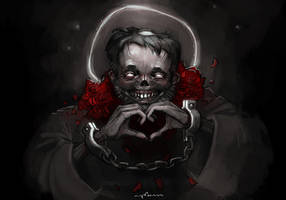 happy Valentine's day from zombie saint Valentine! by apterus