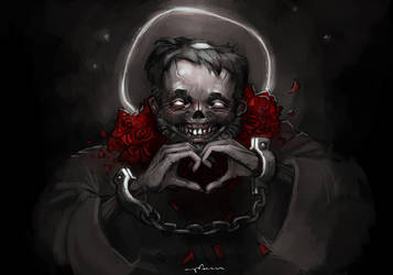 happy Valentine's day from zombie saint Valentine! by apterus