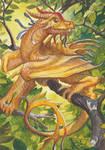 Golden Leafdancer by engelszorn