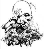 Wolf Skull by engelszorn