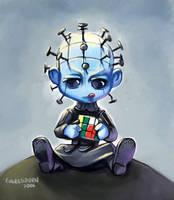 Chibi Pinhead by engelszorn