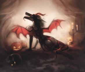 Demoness costume by Elesteyzis