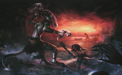 Darkness falls by Elesteyzis