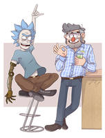Commission|Rick and Stanford by TommySamash