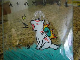 Chibiterasu Glass Paint by shadowstar150