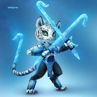 Commission for Zeo Fawx: The Grand Mystic of Ice by eldrige