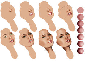 Realistic Face - Step by step by MuchBetterThanThis