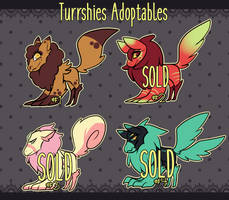 Turrshies Adoptables-  batch #1 [CLOSED] by ClawCraps