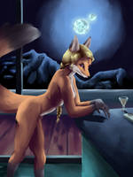 Moonlit Foxxer by Lennoxicon