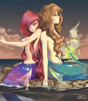 Mermaids. by aridesuu