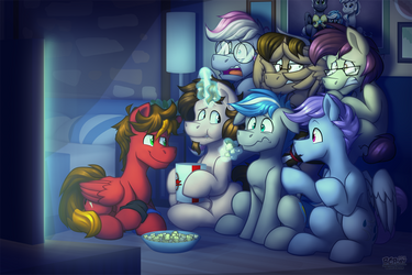 -Commission- Movie Marathon by BuizelCream