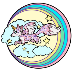 Rainbow and Foxes and Stars Oh MY! by Ardengrail