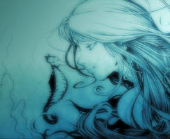 Mermaid_Blue by MarcelZero