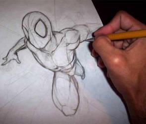 Sketching tha spider by MarcelZero