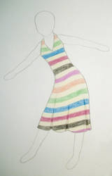Striped Beach Dress by HylianSpy